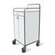 transport trolley / for linen / 1-drawer / 2-door