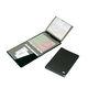 medical documents bag / handheld / leather