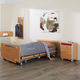 homecare bed / electric / height-adjustable / ultra-low