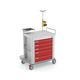 emergency trolley / storage / defibrillator / with oxygen cylinder holder