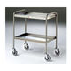 clearing trolley / 2-tray / stainless steel