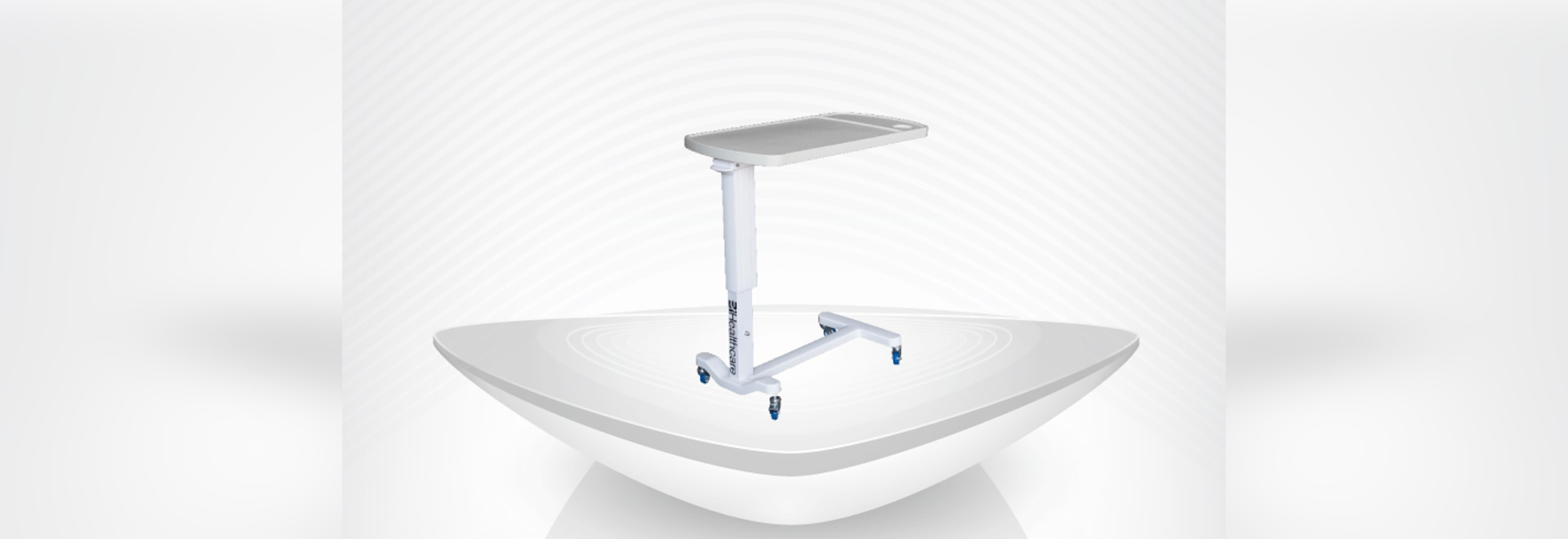 ABS hospital beside overbed Table / hight adjustable with high quality and good price
