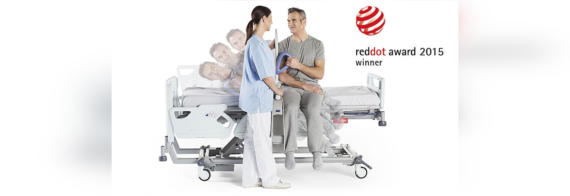 ArjoHuntleigh receives Red Dot design award for device saving caregivers' backs during manual patient transfer