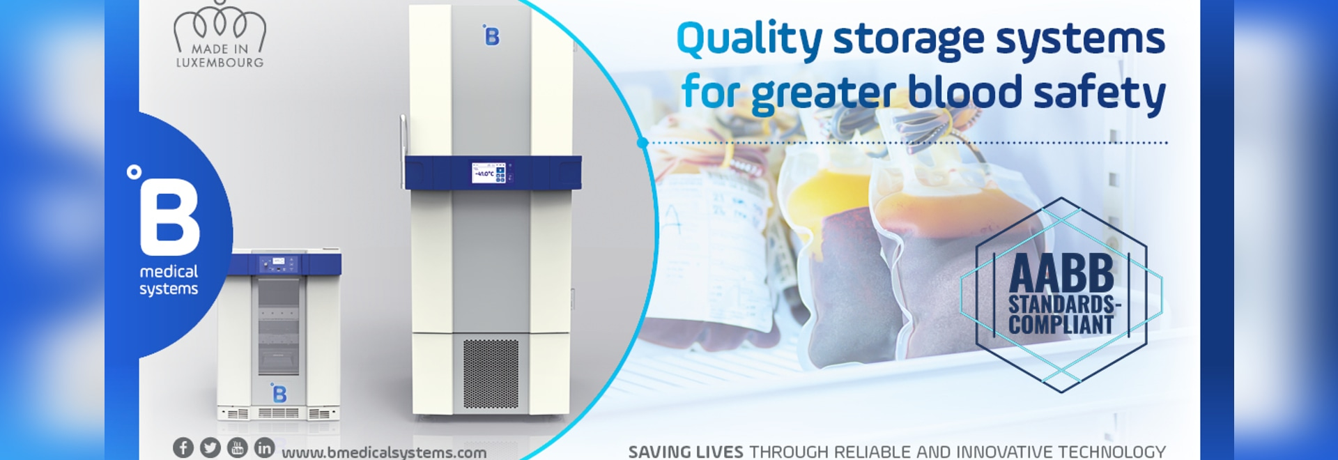 B Medical Systems' Blood Storage Solutions Officially Approved as AABB Standards-Compliant