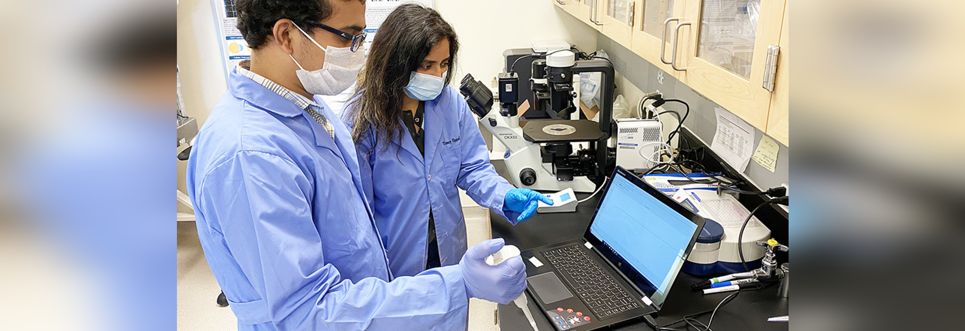 Engineers and virologists at the University of Nevada, Reno team up to develop a nanotube-based electrochemical biosensor for COVID-19. Research Scientist Timsy Uppal cultures and assays the virus ...