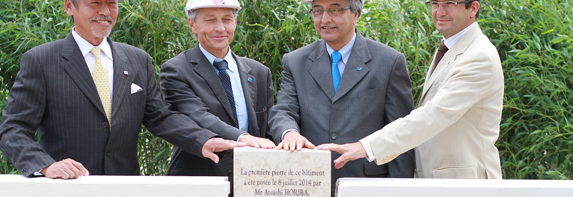 First stone ceremony New R&D center of HMFR (Montpellier site)