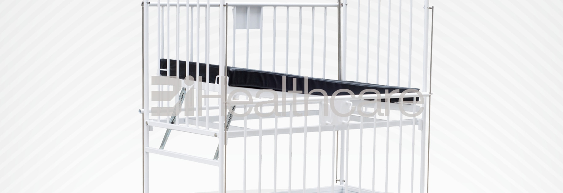 Full guard side rail pediatric hospital bed from BiHealthcare