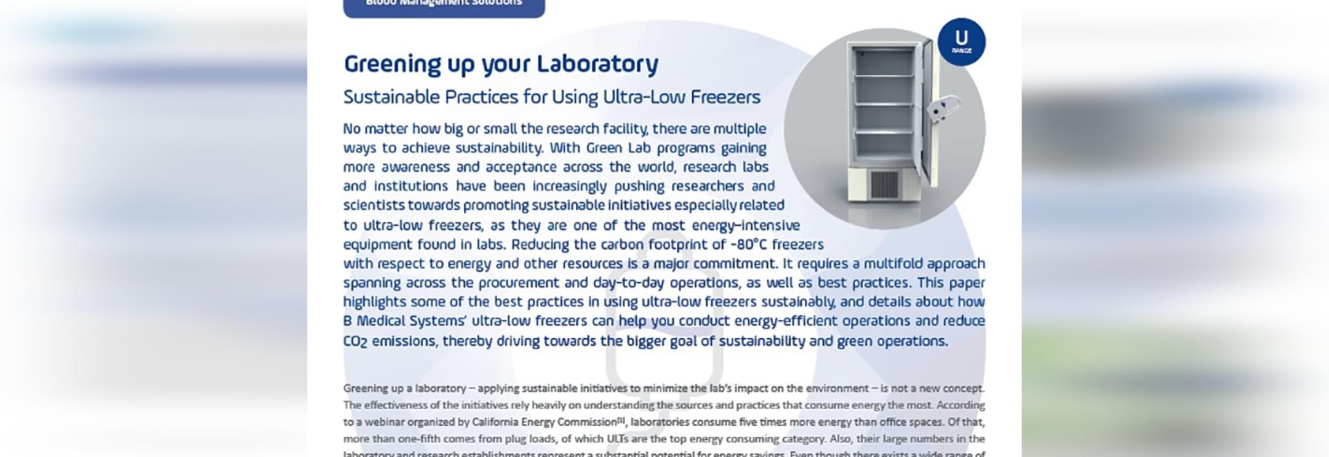 Greening up your laboratory