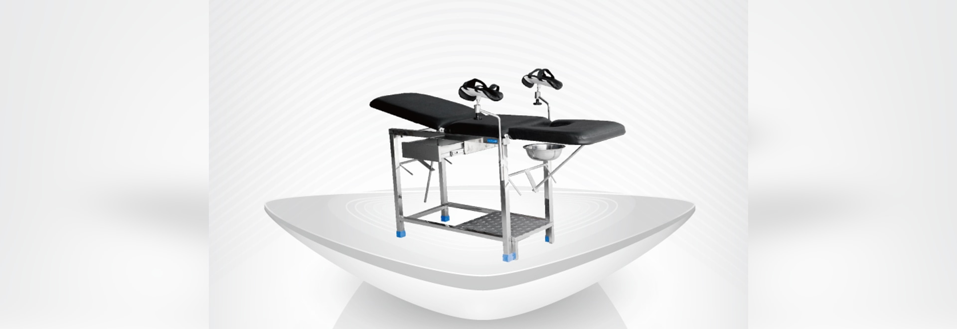 Gynaecological Examination Table / Hamiltion type / backrest up / foot stool