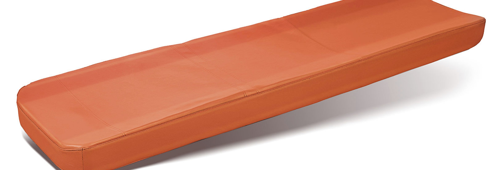 """HI-COM"" (Art. 7018/A) - Orange mattress made with expanded polyurethane at slow memory and fluid therapeutic gel"