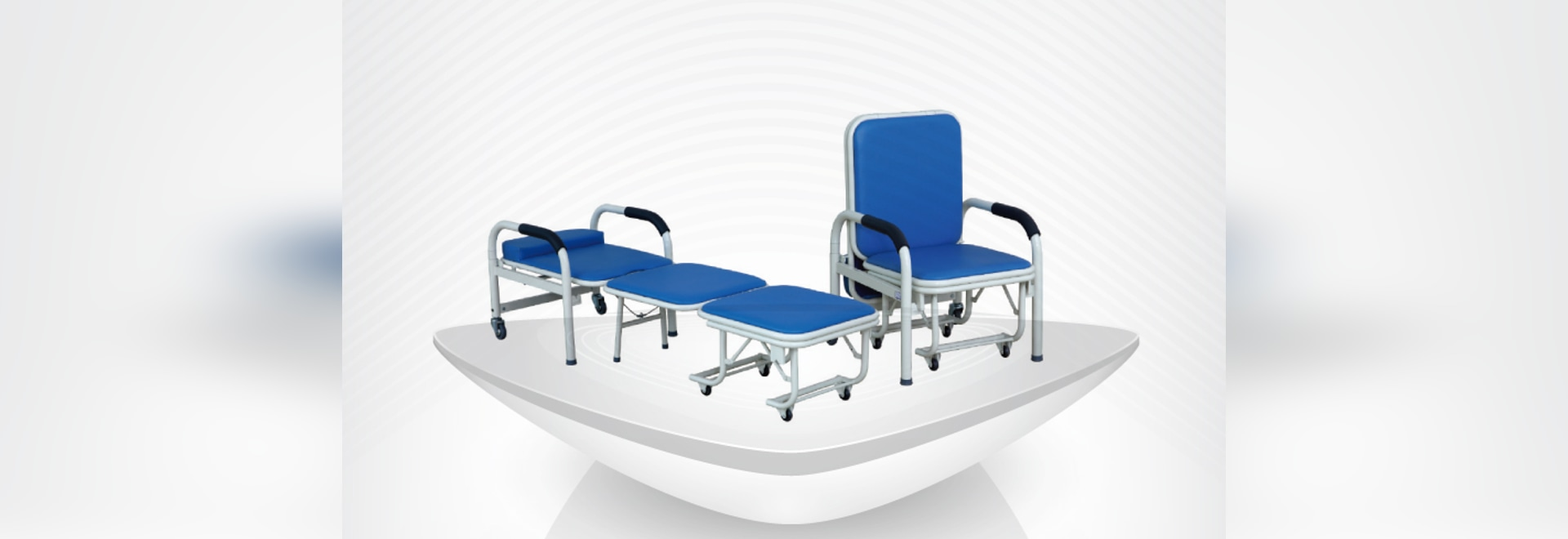 High Quality medical  powder coated steel Multi-purpose foldable Accompany Chair