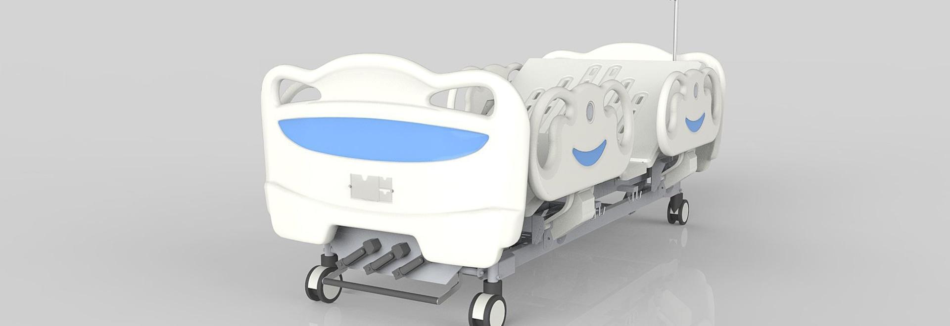Hospital three function Manual Bed