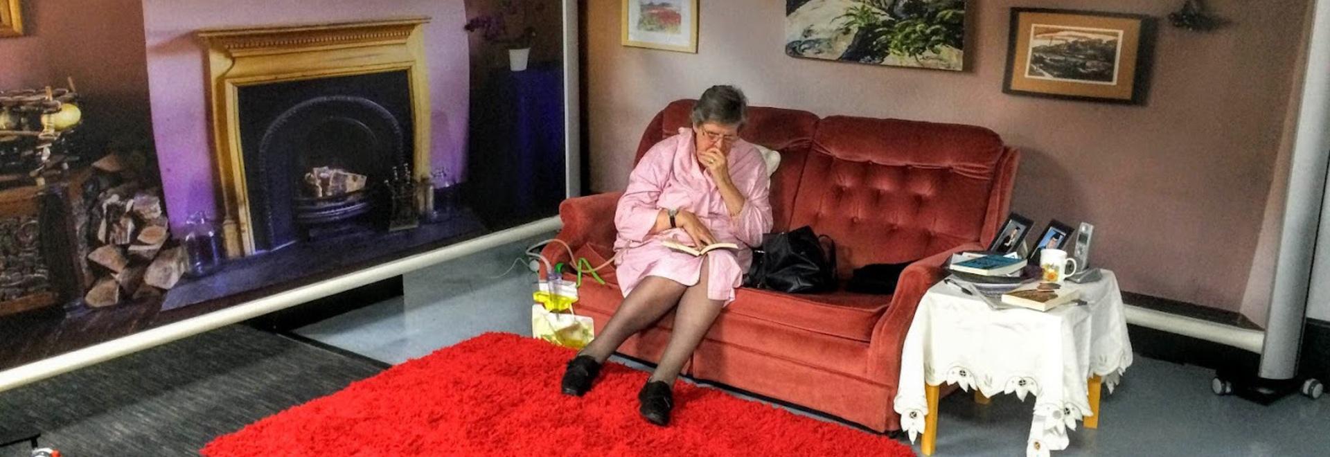KwickScreens recteating dementia patients' familiar spaces
