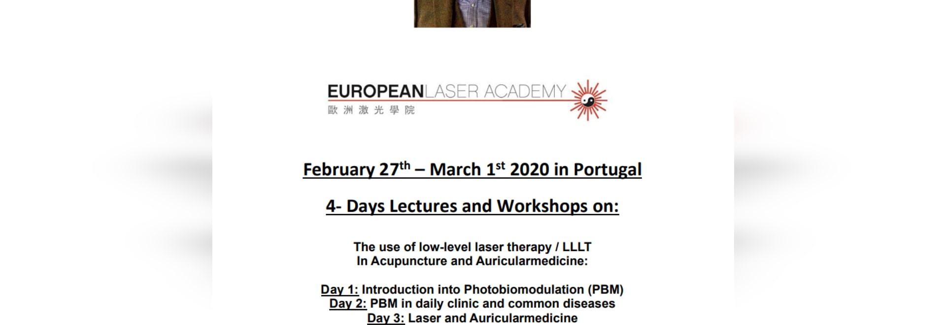 Laser Seminar at Algarve Portugal from Febr 27 til March 01. by Dr Michael Weber MD CM Acup Laser Specialist from Germany.