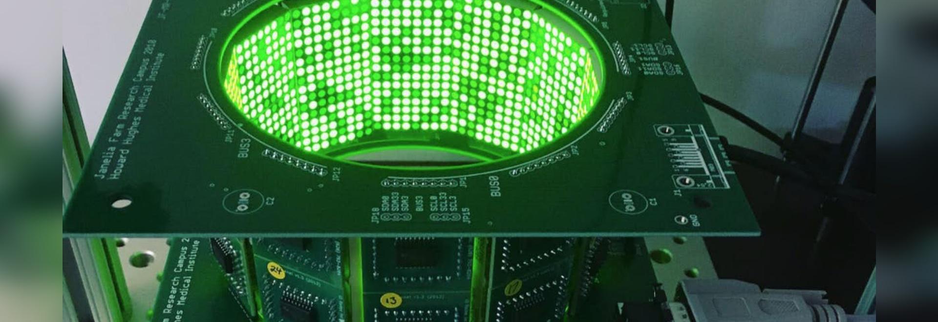 LED mosquito flight simulator.