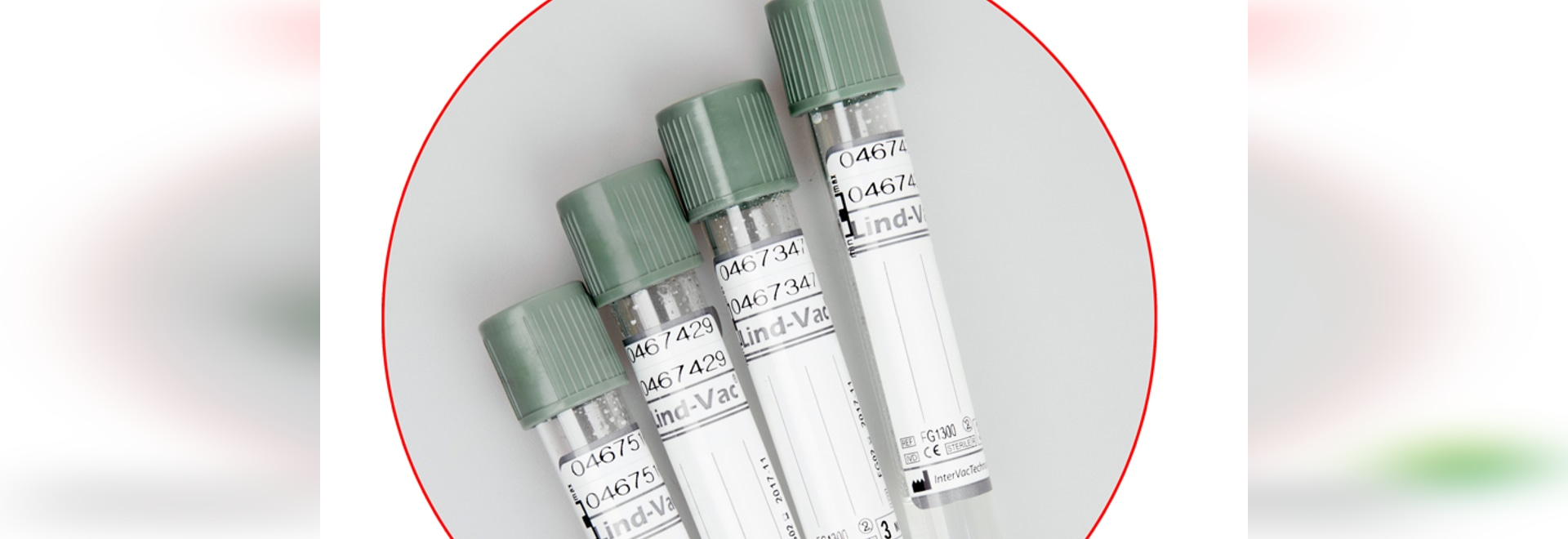 Lind-Vac tube for diabet test
