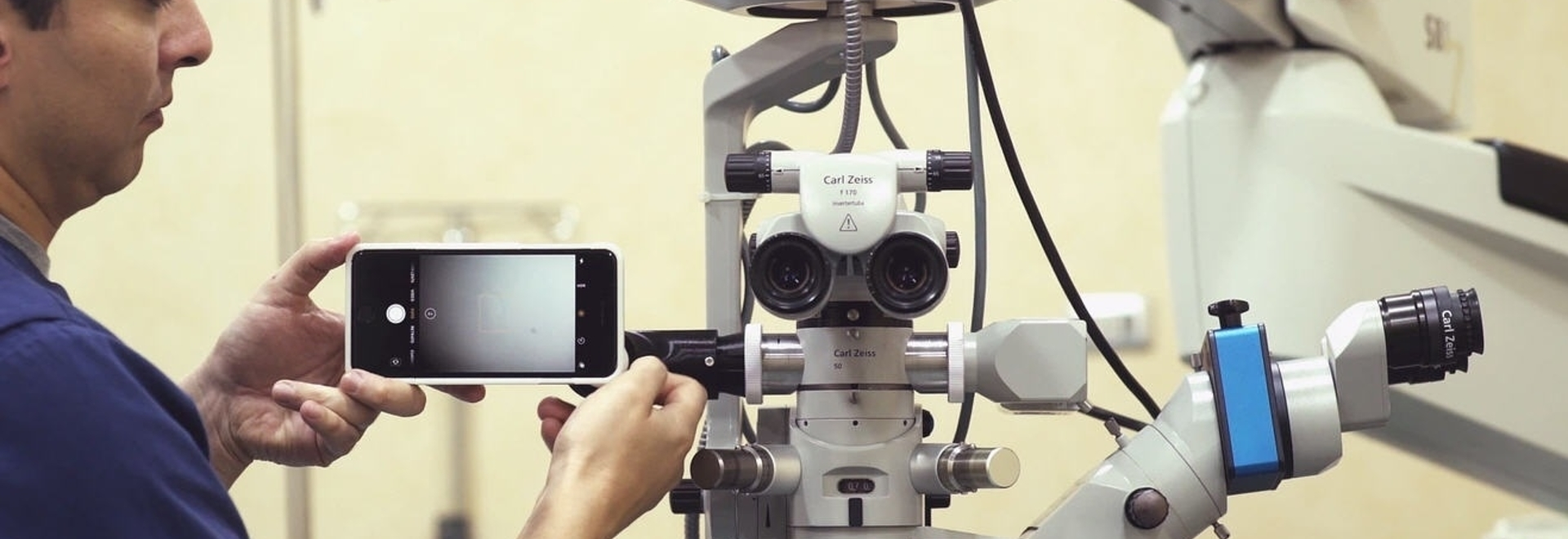 MicroREC is capable of attaching any smartphone to most of the microscopes on the market and filming microscopic operations.