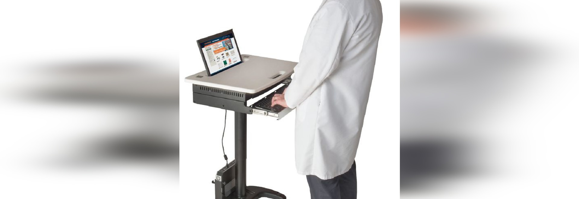 NEW: height-adjustable computer cart by Carstens