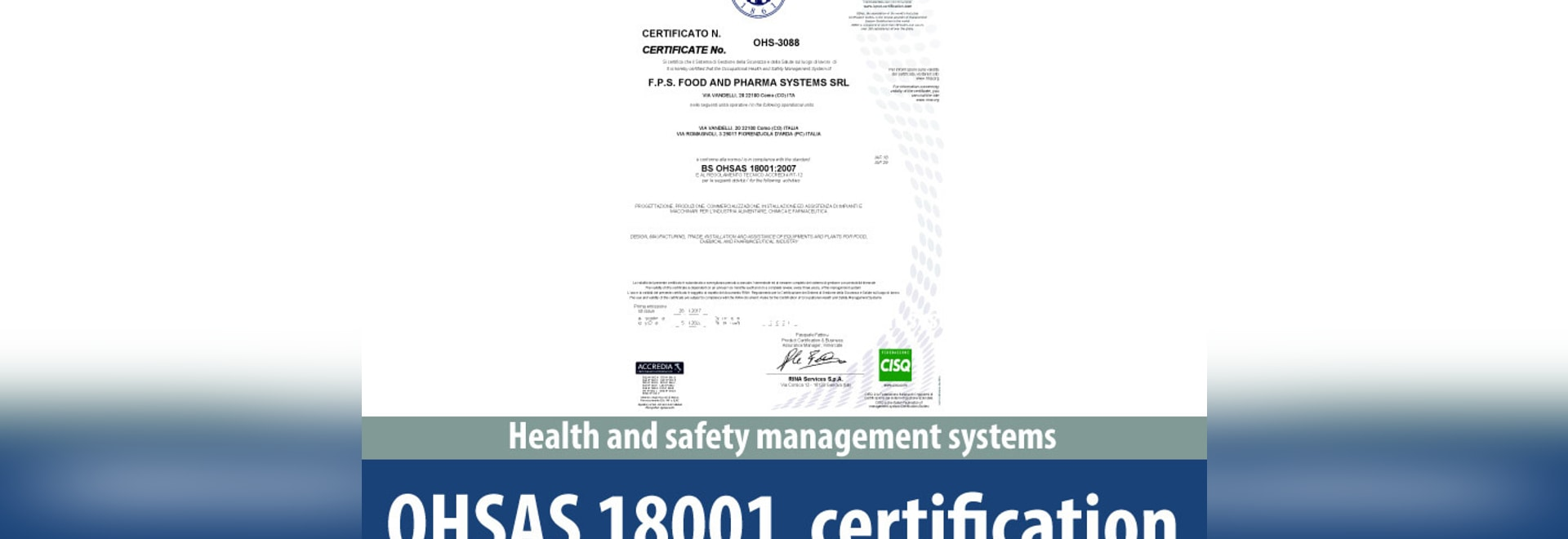 OHSAS Certification