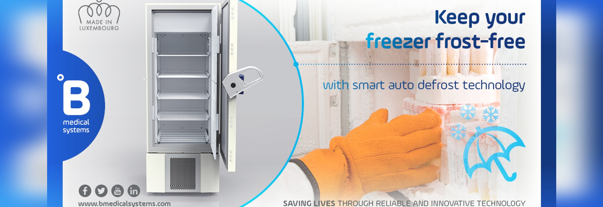 Smart technology to keep your freezers free of frost