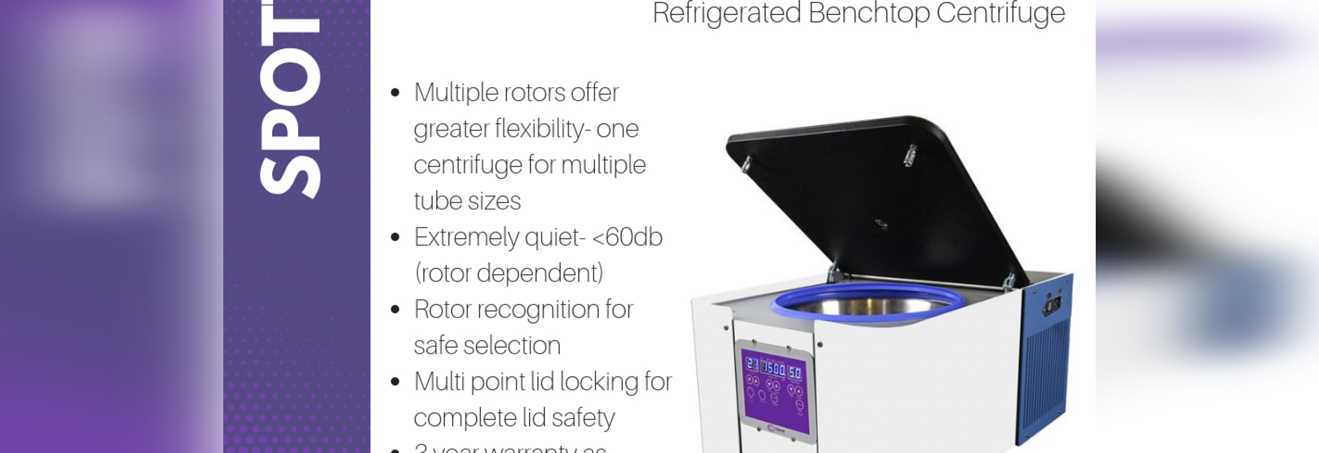 SPOTTED- multiSPIN Refrigerated Benchtop Centrifuge