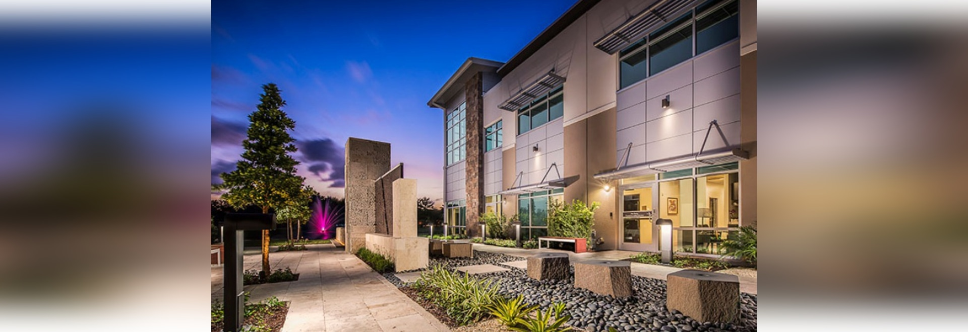 The Zen garden at Jupiter Medical Center's Margaret W. Niedland Breast Center is the centerpiece of the 26,000-square-foot project that features comprehensive women's services.