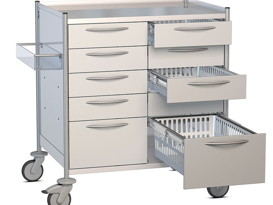 ISO Tray Cart - 2 Rows for trays 600 x 400 mm by Hammerlit