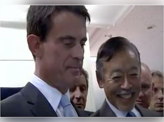 French Prime Minister Manuel Valls visits HORIBA Ltd. headquarters and factory