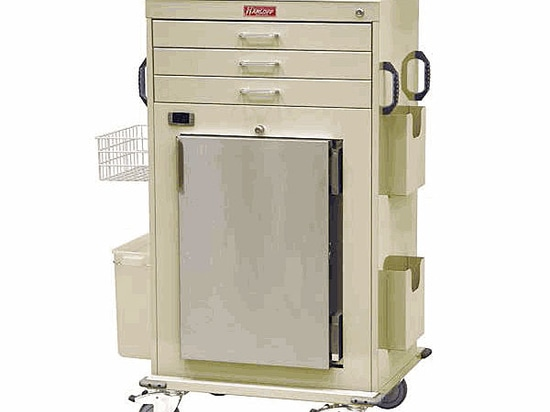 Malignant Hyperthermia Cart with Medical Grade Refrigerator by Harloff