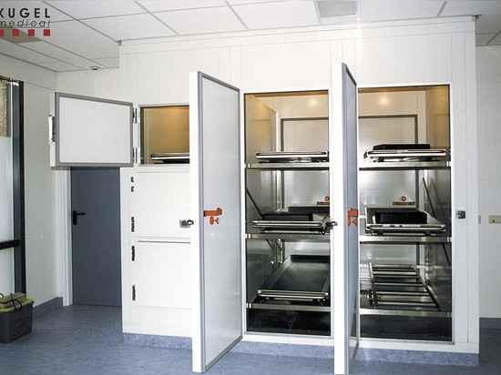 Morgue Refrigeration Units with Sandwich-Building-System by KUGEL MEDICAL