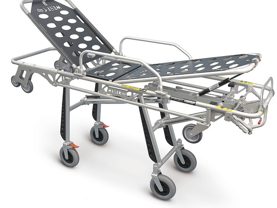 """FROG LITE"" (7260 PROOF) - Self loading aluminium stretcher with Trendelenburg certified"