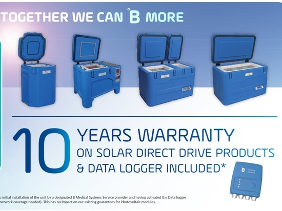 10 years warranty on Solar Direct Drive products & data logger included