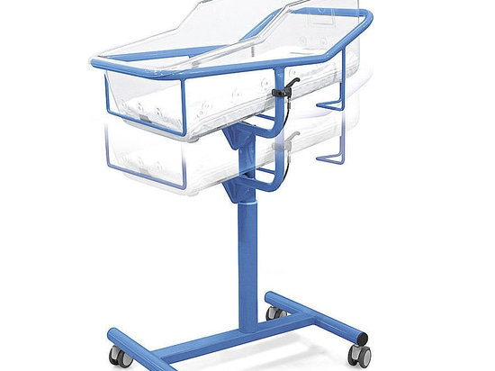 Height adjustable thermoformed crib