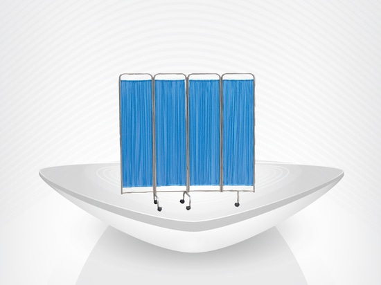 duarble folding medical screen for patient / Hospital Stainless Steel Screen / Bedside Furniture