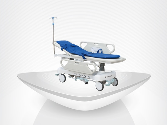 New medical hospital Hydaulic stretcher / USA pump / transport trolley / gas sping / height adjuestable / CPR