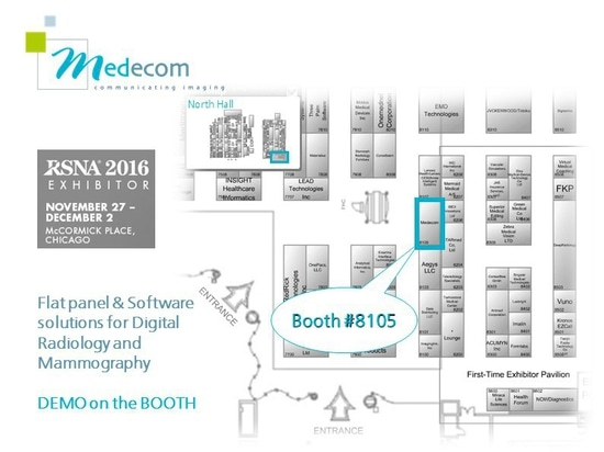 Medecom's RSNA Booth localisation