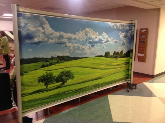 Double printed KwickScreen Partition Screen with Artwork