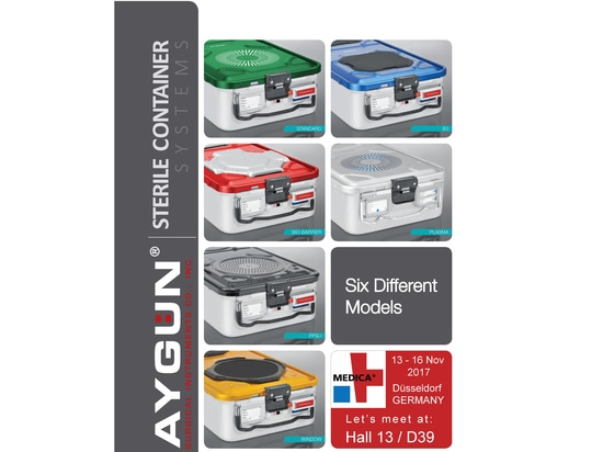 Aygün continues adding new models to its area of expertise product group of sterilization container systems.