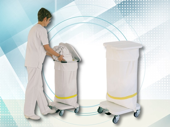Sack-holder trolley, ideal for the collection of dirty linen and waste