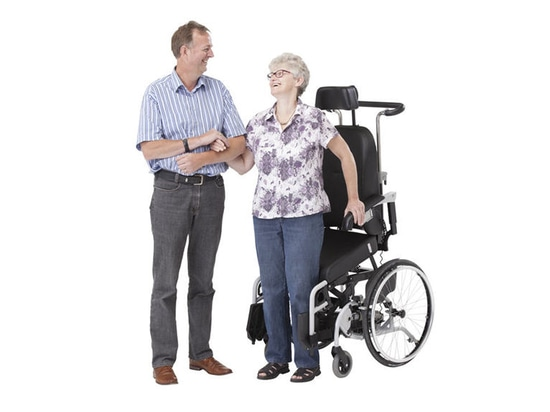 wheelchair with stand up function