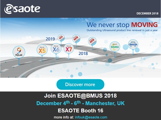 ESAOTE Never Stops Moving With the Outstanding Renewal  of the Ultrasound Product Line in Just a Year at BMUS 2018