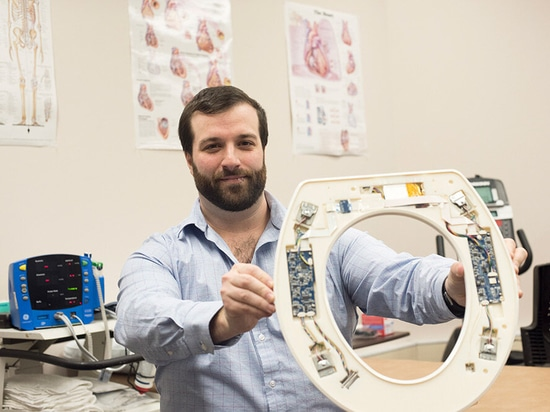 Nicholas Conn, a postdoctoral fellow at the Rochester Institute of Technology and the founder and CEO of Heart Health Intelligence, is part of the team that has developed a toilet-seat based cardio...