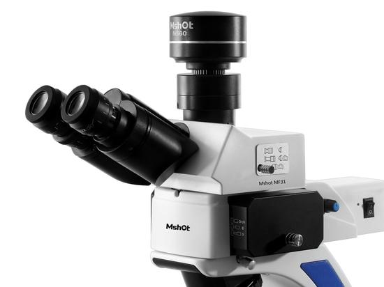 Mshot fluorescence microscope