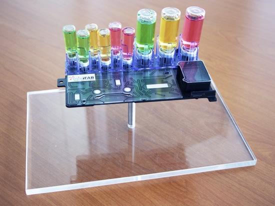 Microfluidic cassette (iMiLAB)