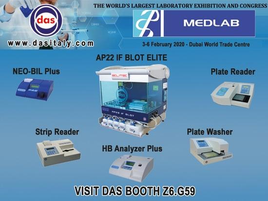 MEDLAB - Dubai 2020 - DAS Booth Z6.G59