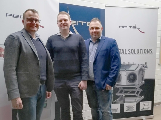 The sales team at Reitel: Christian Rösch, Waldemar Mohr and Christoph Ast