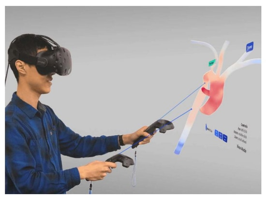 Personalized Blood Flow Modeling Benefits from Virtual Reality Interface