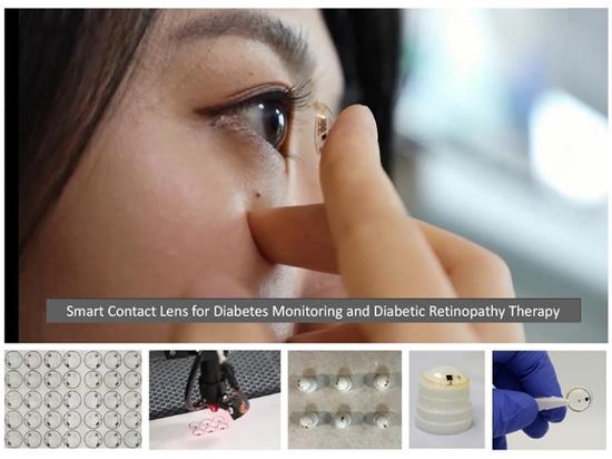 Smart Contact Lenses Measure Glucose, Deliver Drugs