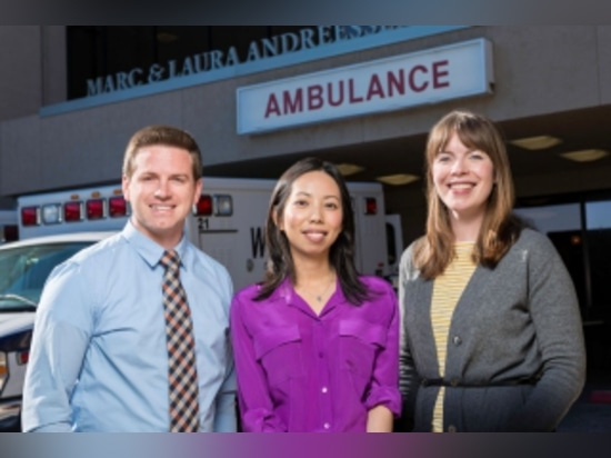 Jared Conley, Waimei Tai and Lucy Kalanithi have developed a model for stroke-care delivery aimed at improving patient outcomes and reducing costs. Steve Fisch