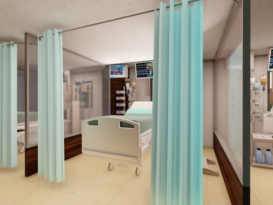 Each ICU unit, which can house nine beds, can be deployed in one day.